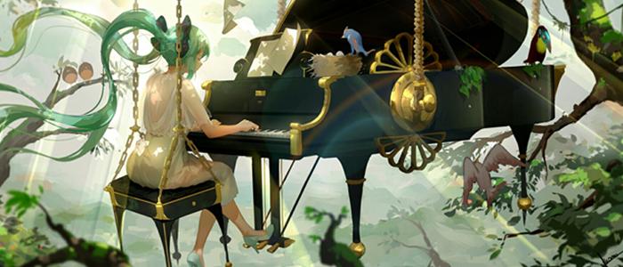 动漫钢琴图片,动漫女生图片,动漫唯美图片
