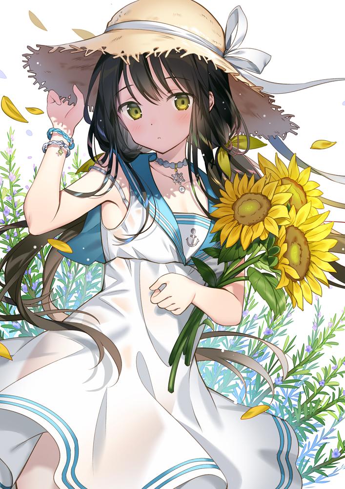 id=63970919,动漫女生图片,动漫唯美壁纸,向日葵图片