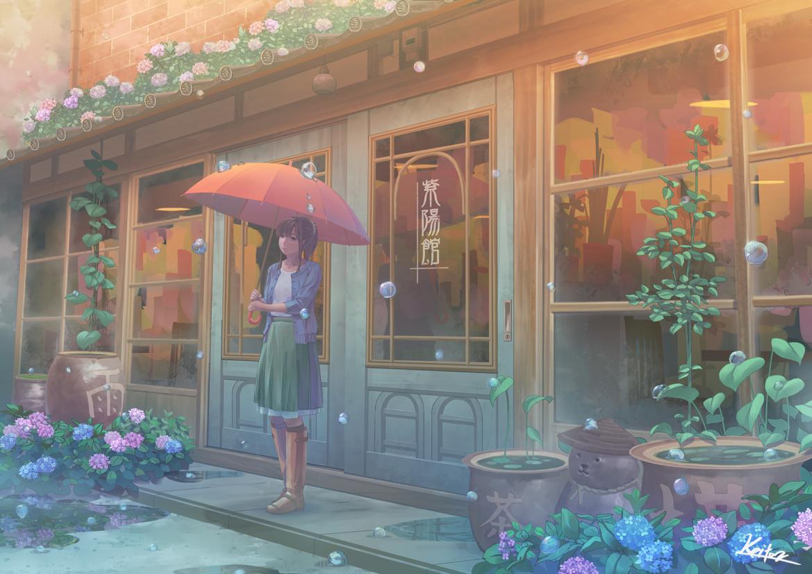 id=68958898,动漫唯美壁纸,动漫女生图片,动漫下雨图片