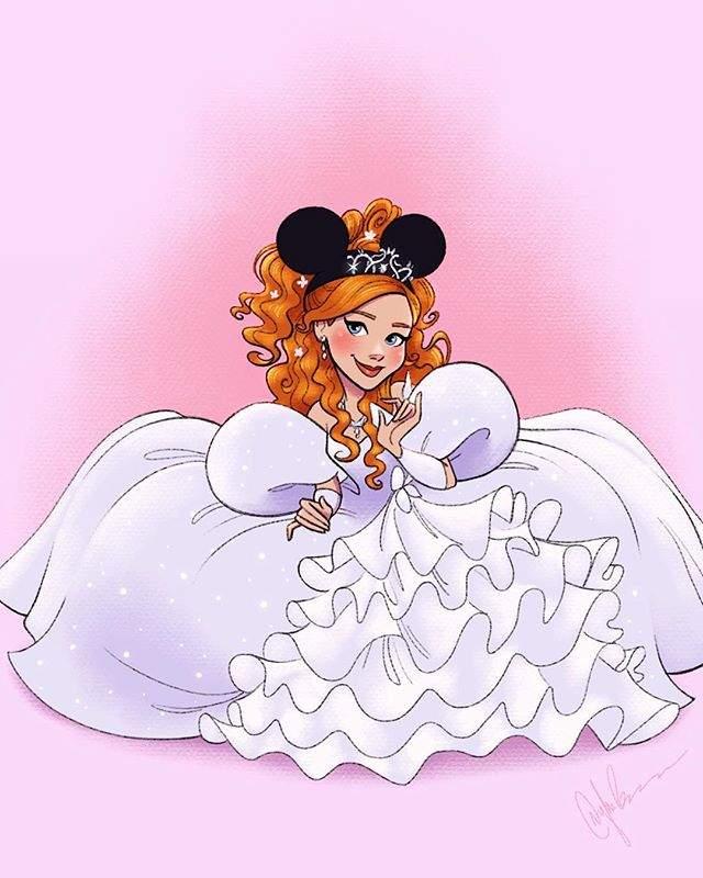 当迪士尼公主戴上米奇耳朵之后 这样的公主们也好可爱