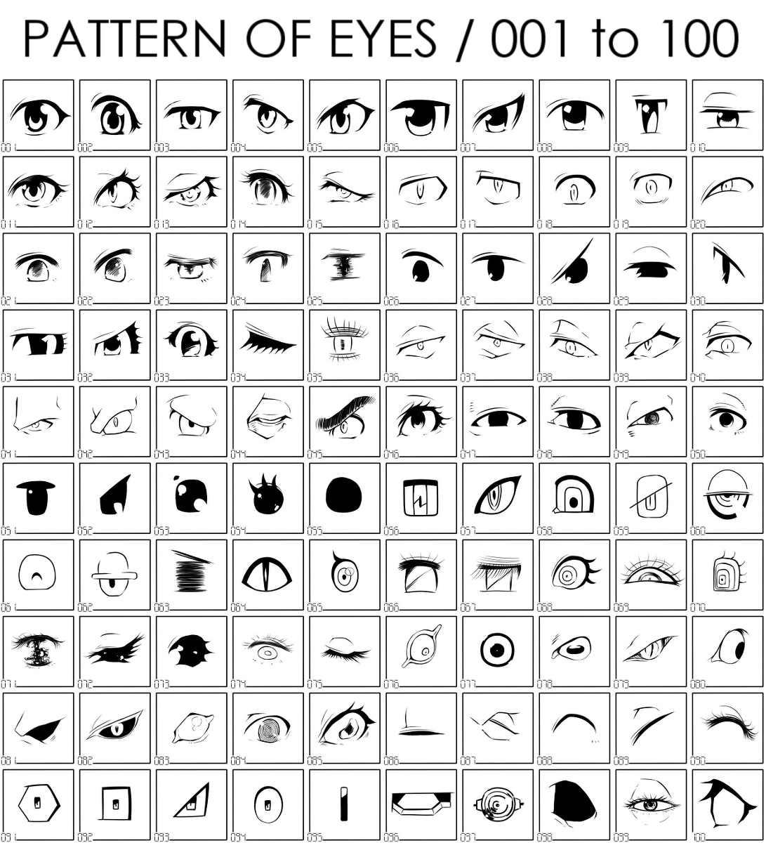 画眼睛的教程,动漫眼睛怎么画,免费素材,