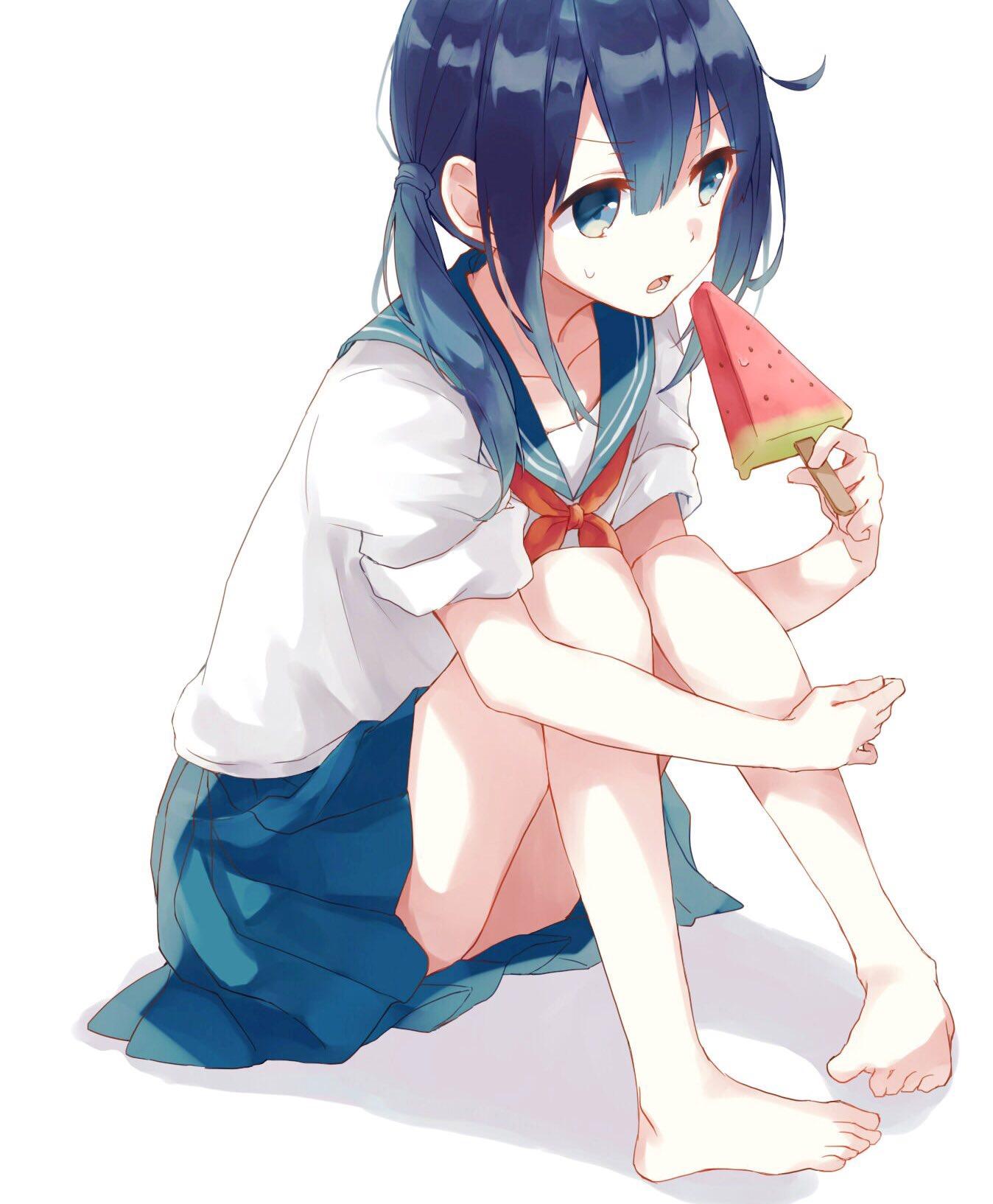 id=58049957,日本西瓜,吃西瓜少女,动漫女生图片