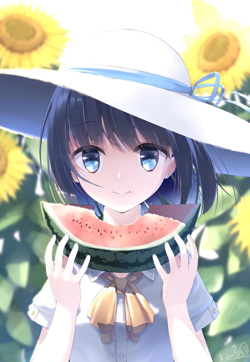 id=58148356,日本西瓜,吃西瓜少女,动漫女生图片