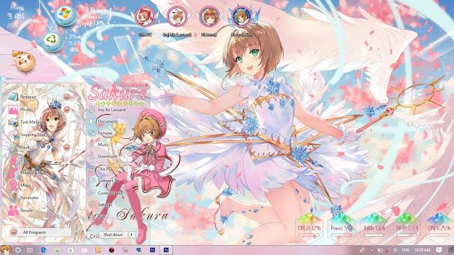 Windows7,电脑主题,魔卡少女樱,小樱