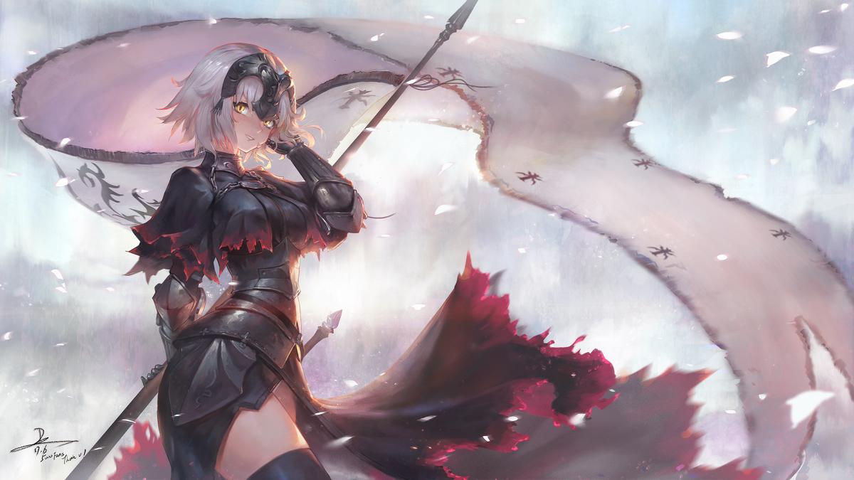 Fate/Grand Order,黑贞德壁纸,动漫壁纸,电脑壁纸