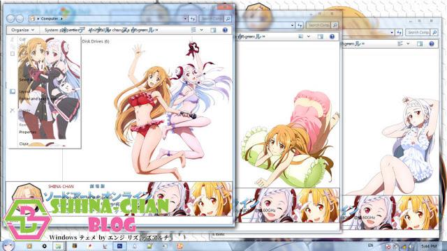 Windows7,萌化电脑主题,刀剑神域,亚丝娜
