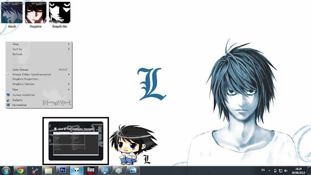 L,死亡笔记,Windows7