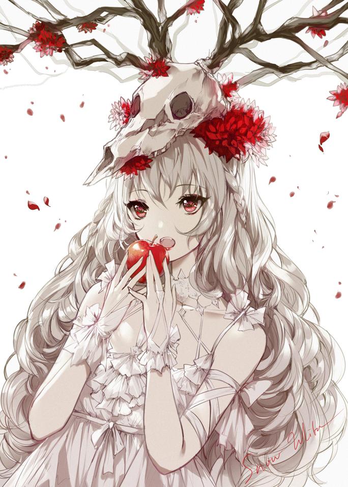 id=69649791,动漫唯美壁纸,动漫女生图片,骨头与少女壁纸