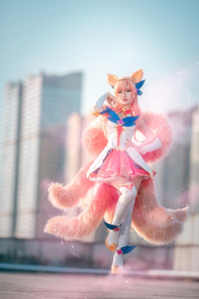 九尾妖狐阿狸,cosplay,英雄联盟,星之守护者