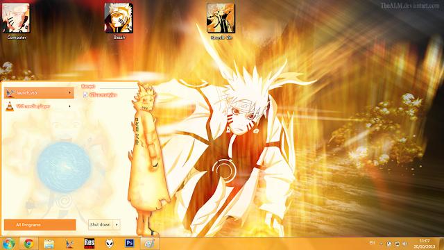 火影忍者,萌化电脑主题,Windows7,漩涡鸣人