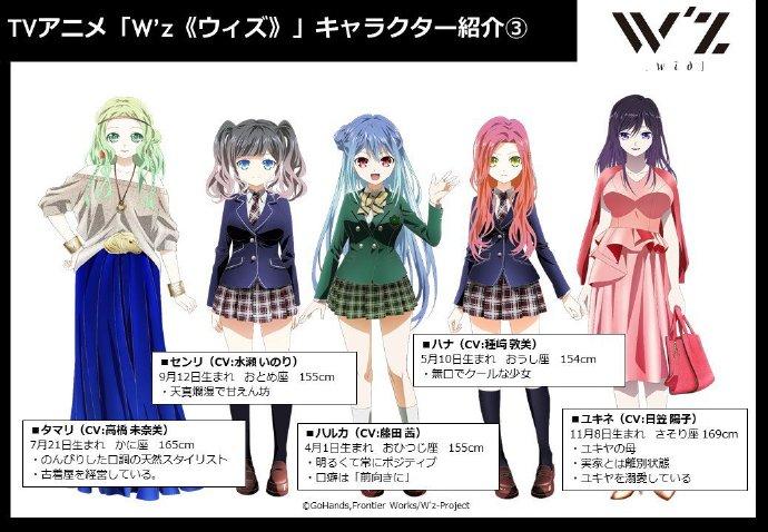 《W'z》,声优,GoHands,藤田茜,水濑祈,种崎敦美,