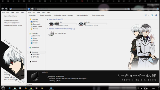 Windows7,萌化电脑主题,东京搜查官,金木研