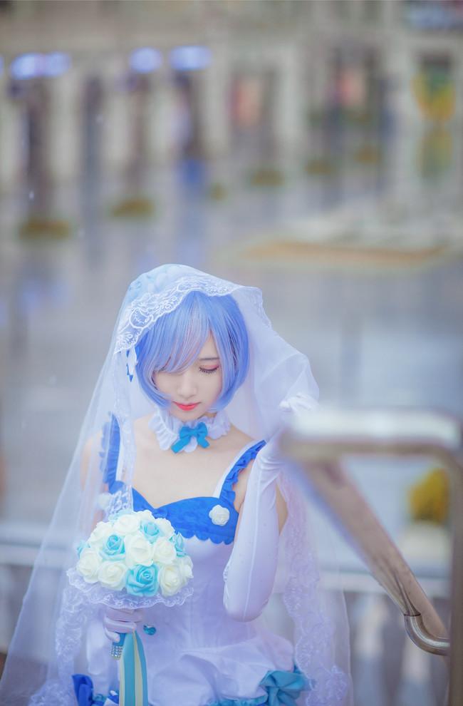 绝对领域,白丝,花嫁,蕾姆,cosplay