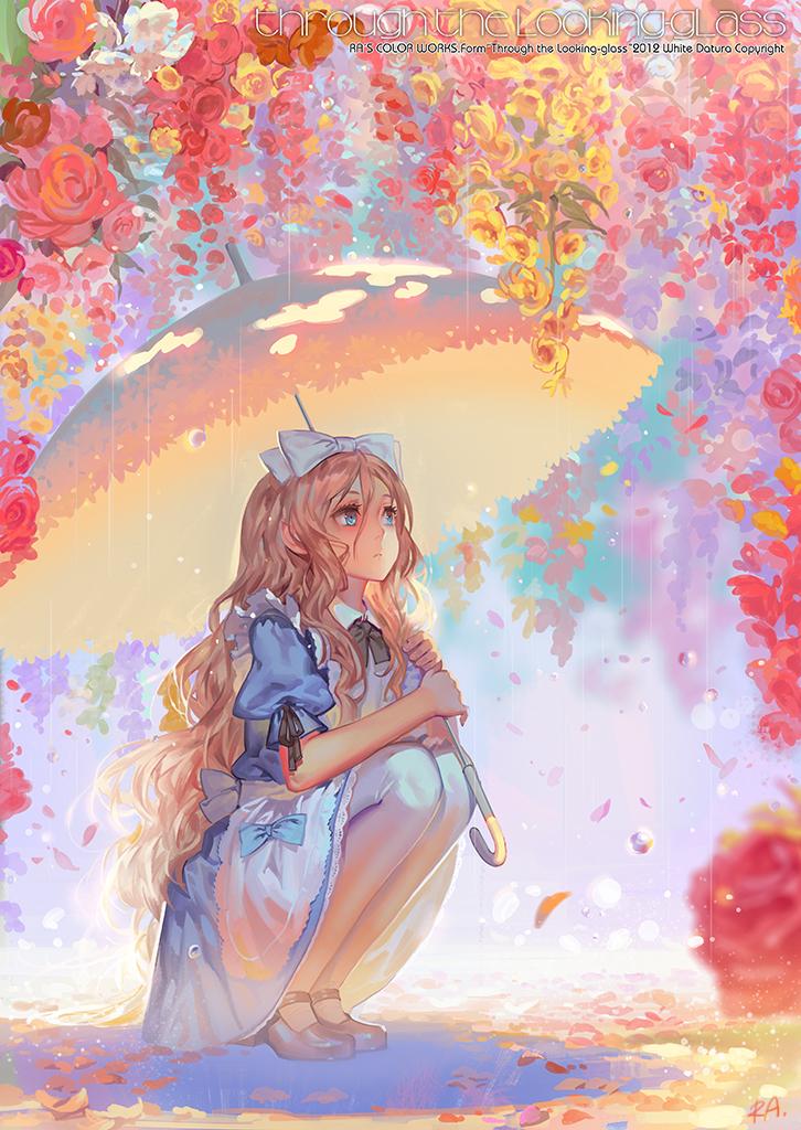 动漫,下雨,手机壁纸,动漫壁纸,撑伞,伞