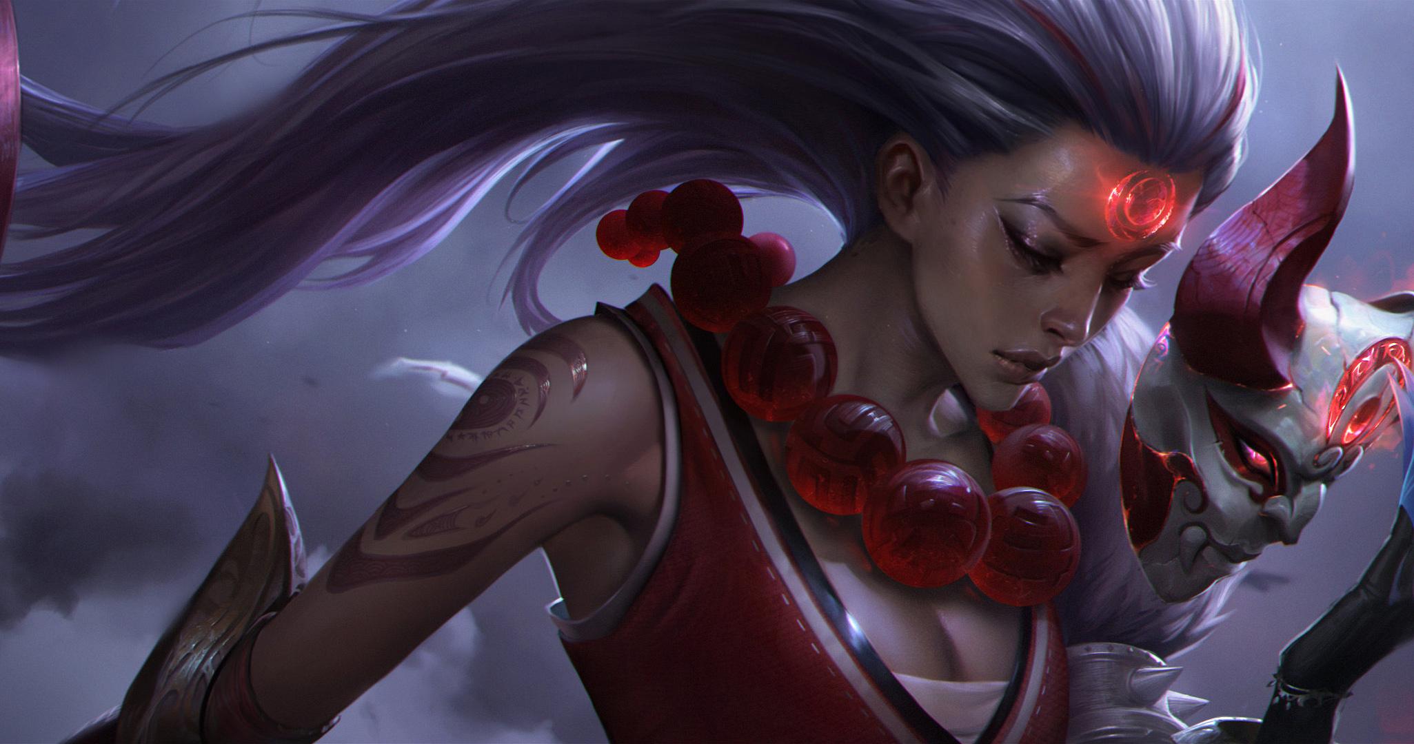 英雄联盟LOL皎月女神戴安娜腥红之月皮肤高清无水印原画