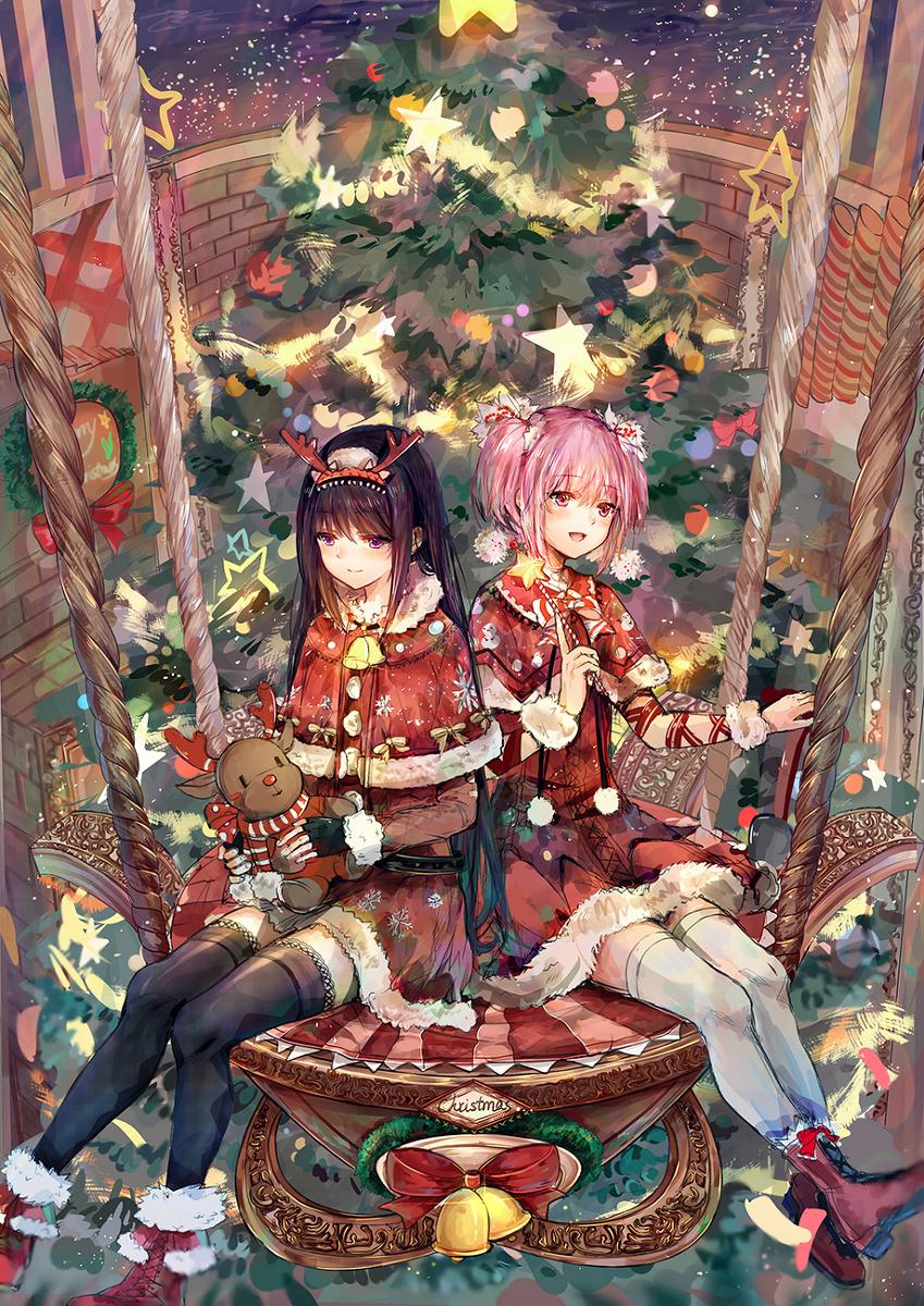 圣诞节,手机壁纸,动漫壁纸,萌化图片,二次元壁纸,崩坏3rd,初音未来,FGO