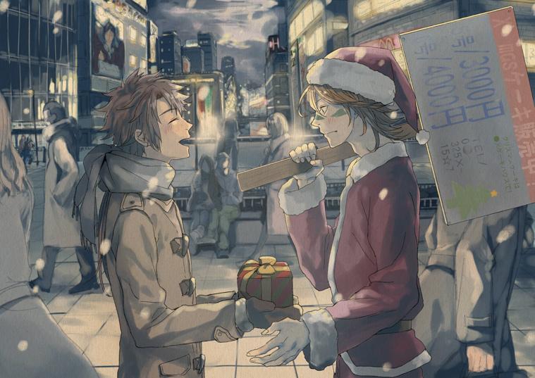 圣诞壁纸,圣诞动漫壁纸,二次元壁纸,卡通动漫壁纸