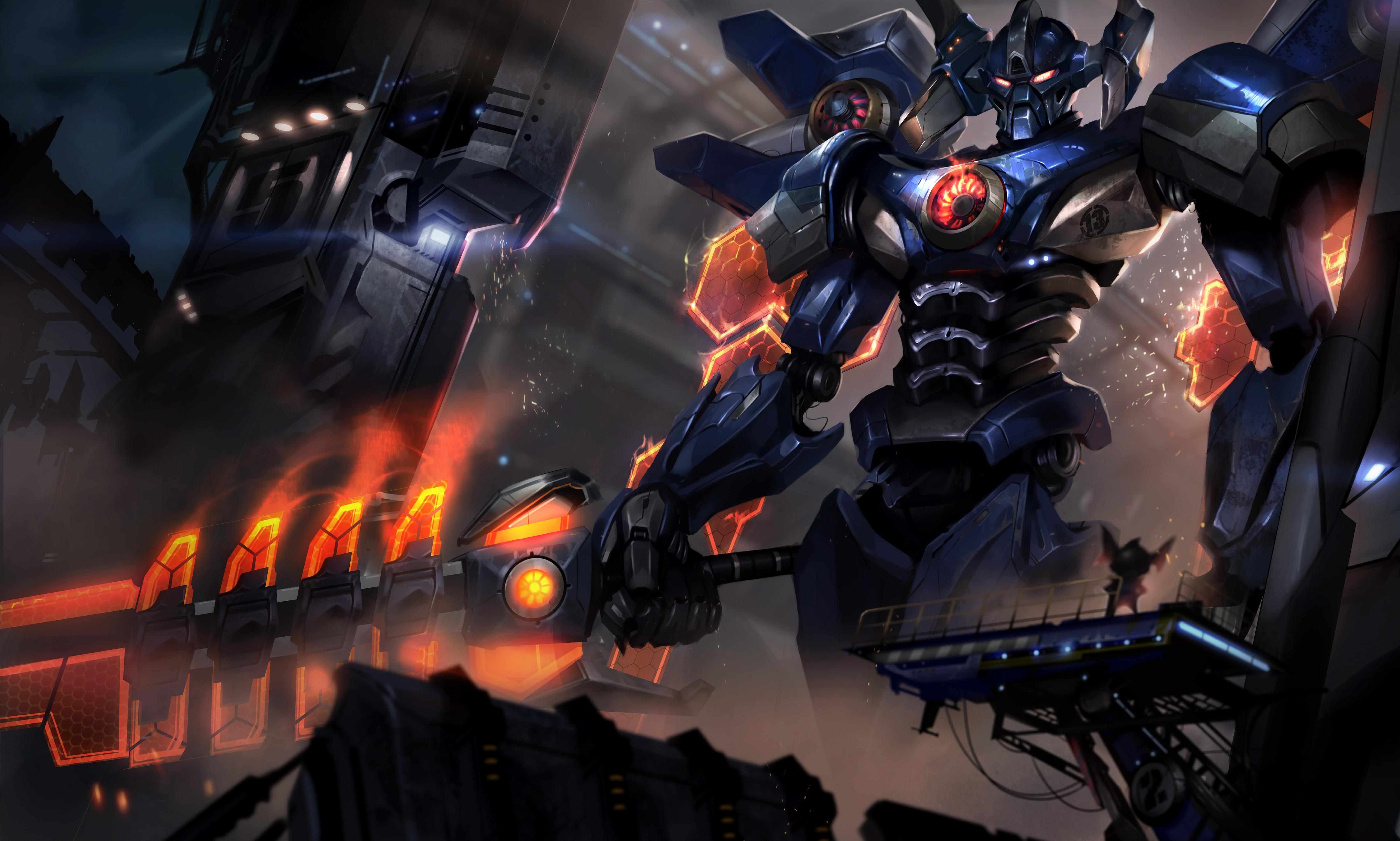 英雄联盟壁纸,LOL壁纸,暗裔剑魔亚克托斯霸天剑魔全高清原画下载
