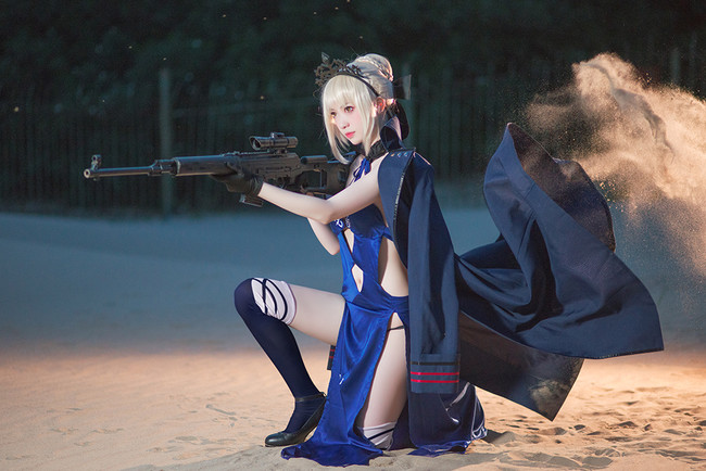Fate/Grand Order,阿尔托利亚,Alter,泳装,COS,COSPLAY