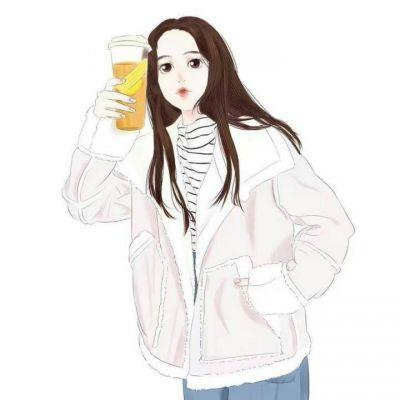 女生头像,手绘女生头像,冬天,温暖,二次元女生头像