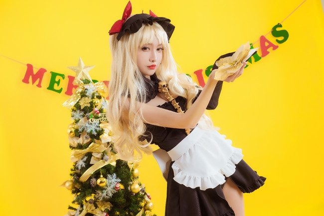 fate,弓凛,枪凛女仆cos,COS,COSPLAY