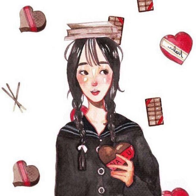 冬天,情侣头像,手绘情侣头像,卡通情侣头像,动漫情侣头像