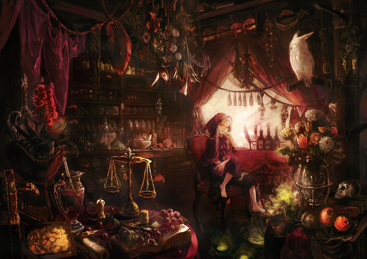 动漫壁纸,二次元,魔法,魔女