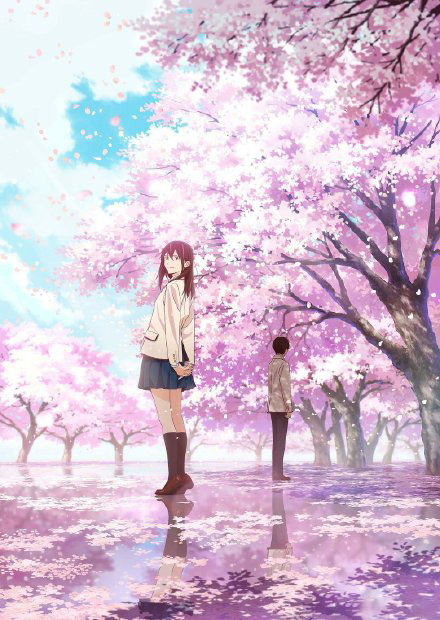 """剧场版动画《我想吃掉你的胰脏》""""樱良期愿的春夏秋冬""""视觉图"""