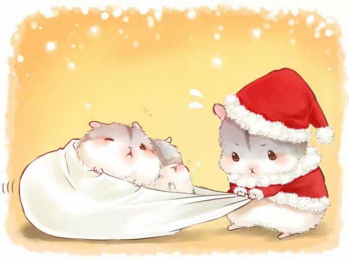 日本画师ゆたか,可爱仓鼠小日常,呆萌