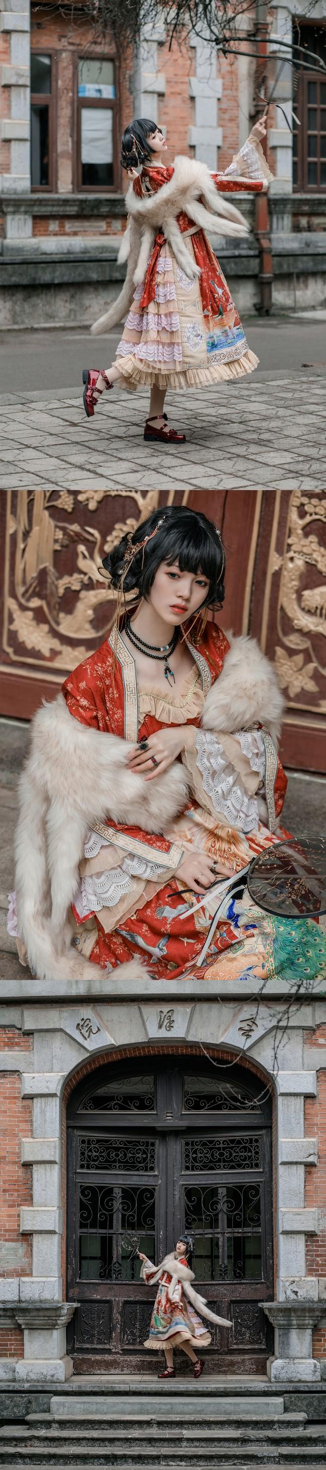 百鸟朝凤Lolita 私影 COS正片-第9张