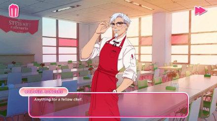 肯德基上校变型男! KFC推出恋爱模拟游戏:我爱你桑德斯上校