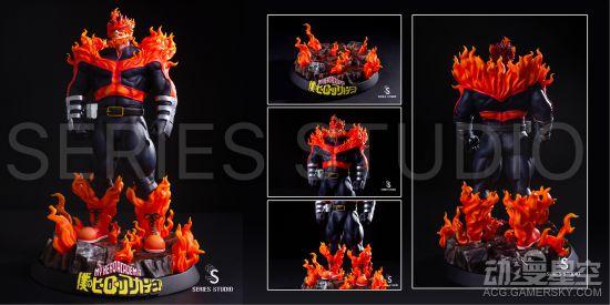 《我的英雄学院》安德瓦雕像 地狱火焰气势爆表