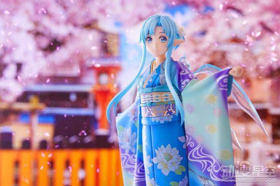 《刀剑神域》亚丝娜京友禅和服手办 优雅豪华超吸睛